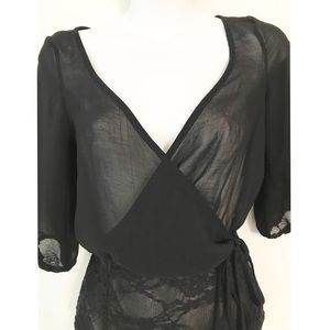 Urban Outfitters Other - UO Out From Under black sheer/lace bodysuit
